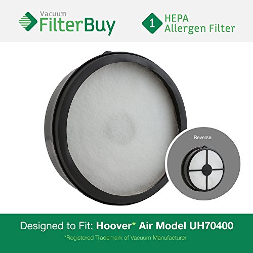 Hoover WindTunnel Air Model UH70400 HEPA Vacuum Filter. Designed by FilterBuy to replace Hoover Part # 303902001.