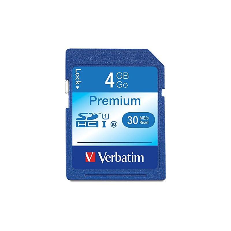Verbatim 4GB Premium SDHC Memory Card, U