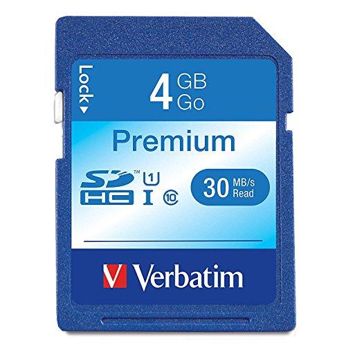 Verbatim 4GB Premium SDHC Memory Card, UHS-I U1 Class 10