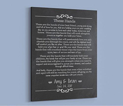 (Custom Irish Wedding Gift. Celtic Handfasting Wedding Vows Keepsake. Personalized Canvas Wedding Print - Home)