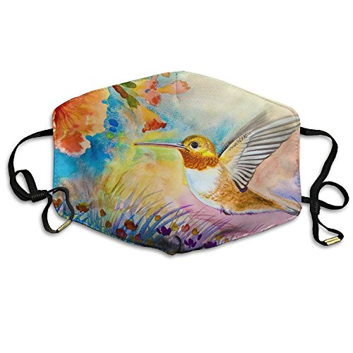 BGHER Colorful Of Hummingbird Flying Mens & Womens Unisex Comfortabl Anti-dust Masks by BGHER