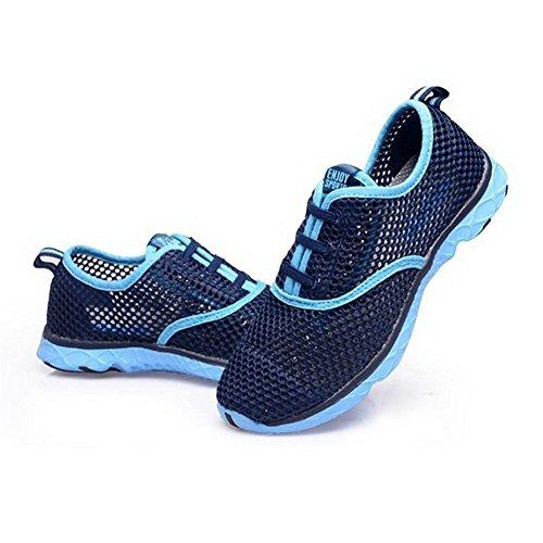TOOSBUY Womens Quick Drying Aqua Water Shoes Blue NKJyk