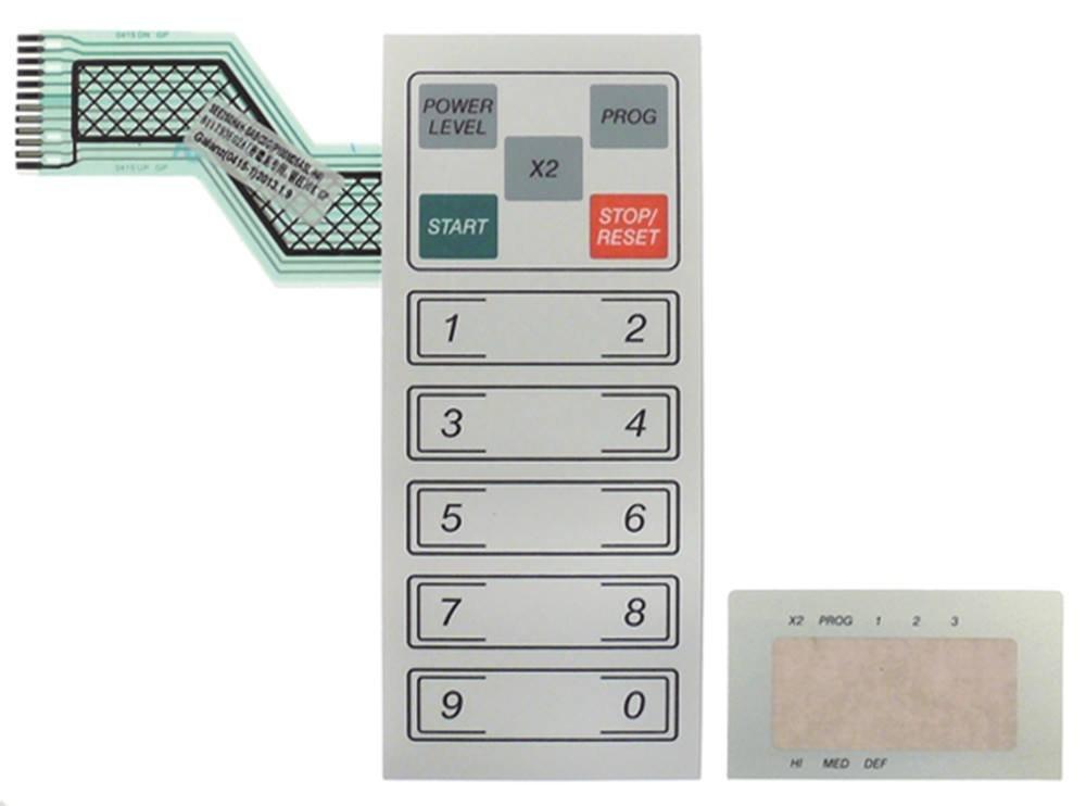 GMW1025 - Teclado para microondas (15 teclas, 164 x 70 mm, 2 ...