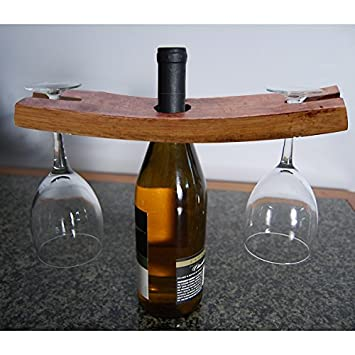 handmade wooden wine glass bottle holder hardware metal man plans