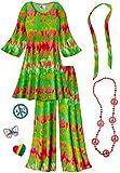 Green Heat Wave 2PC Plus Size Hippie Costume Basic Kit 0xT
