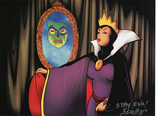 (Snow White & Seven Dwarfs Witch Evil Queen Signed Color Tribute Print 8.5x11)