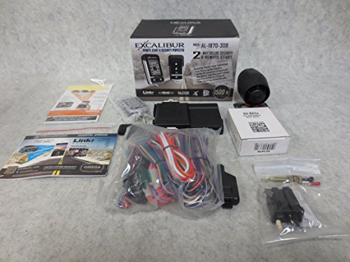 EXCALIBUR AL-1870-3DB - Deluxe LCD 2-Way Vehicle Security & - Keyless Entry Excalibur System