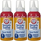 Arm & Hammer Simply Saline Nasal Mist Giant Size: 6 Packs of 4.25...
