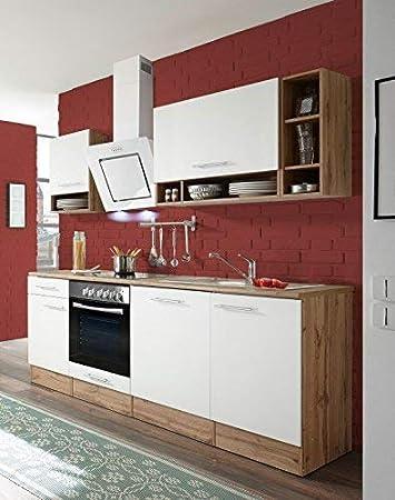 respekta Küchenzeile Küche Küchenblock Einbauküche Komplettküche 220 ...