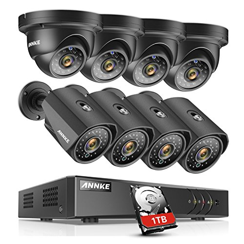 ANNKE Security Camera Systems 8+2 Channel 1080P Lite H.264+ DVR With 1TB HDD and 8×960P Weatherproof Outdoor CCTV Cameras with Super Night Vision, Motion Detection, Email Alert with Snapshots Review