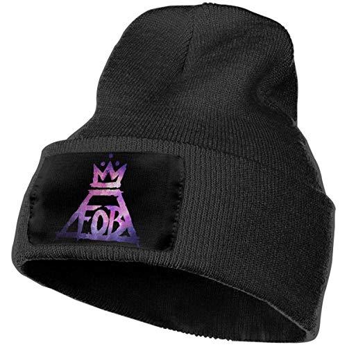 WSND Mens & Womens Fall Out Boy FOB (1) Skull Beanie Hats Winter Knitted Caps Soft Warm Ski Hat Black