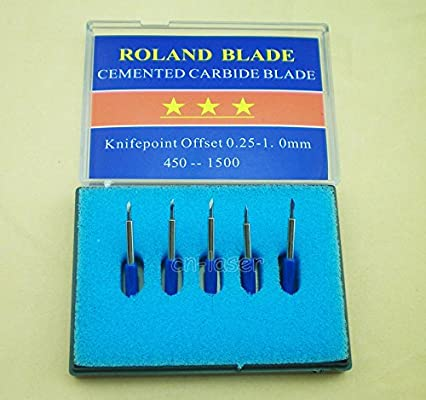 1 soporte + 15 Pcs mezcla de 30 45 60 grados Cuchillas para Roland ...