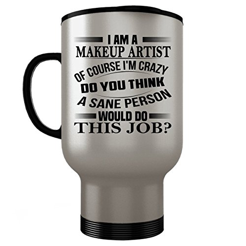 Makeup For A Referee Costume (MAKEUP ARTIST Travel Mug - MAKEUP ARTIST Gifts - Stainless Steel Travel Mug, Coffee Cup #02)