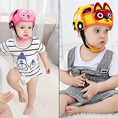 Anne210 Children Safety Helmet Anti-Collision Adjustable Protective Harnesses Cap Safety Head Protector for Baby Toddler 6 Month to 5Year