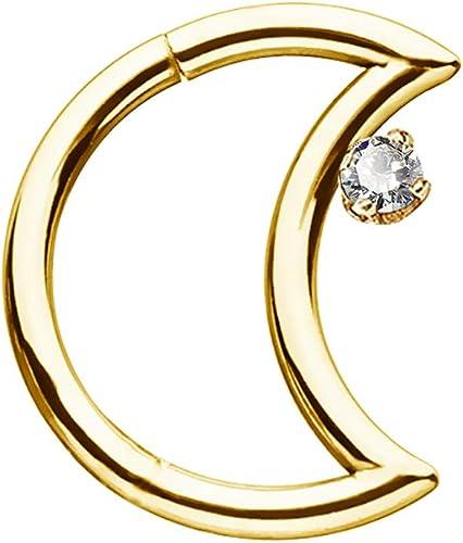 14K Solid GOLD Gem Studs Hoop Septum NOSE EAR Daith Helix RINGS Piercing Jewelry