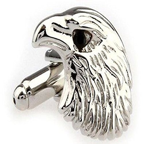 Cufflinks Head Eagle - Eagle Head Animal Cufflinks + Free Box & Cleaner