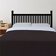 Wall Decal Decor Bedroom Wooden style Headboard Wall Decal Bed Wall Decal for Twin Full Queen King Bed Vinyl Wall Decal Sticker(Dark Brown, Twin)