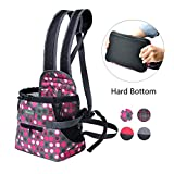 Wellver Dog Carriers Front Pack Pet Backpack Carrier for Small Dogs Cats with Hard Bottom,Medium
