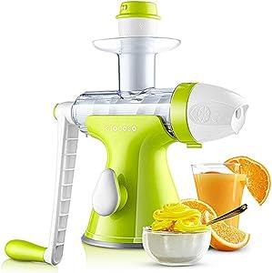 like & love it Manual Juicer Masticating Slow Fruit Vegetable Wheatgrass Juicer Ice Cream Auger Juicer (Pink)