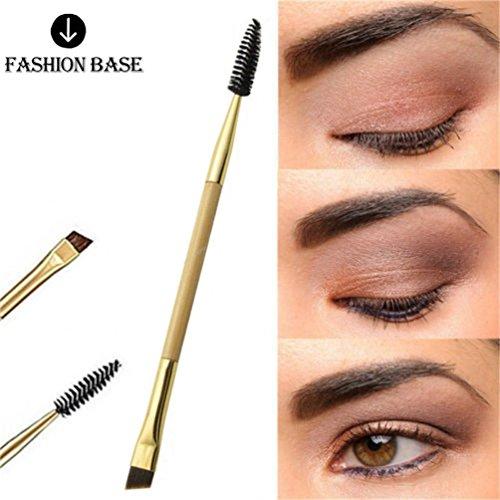 Fashion Base® 1Stück Neue Frauen Make-up Pinsel Bambus-Griff Augenbrauen-Pinsel + Augenbrauen Kamm, doppelseitig Werkzeug