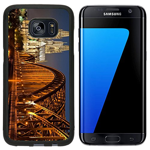 Liili Samsung Galaxy S7 Edge Aluminum Backplate Bumper Snap Case Cologne Cathedral at Night Photo 7981460