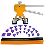 PDR Tools 31pcs Paintless Dent Repair Tools Set PDR Golden Dent Lifter + PDR Glue Sticks + PDR Glue Tabs Auto Body Dent Removal tools Car Dent Removal Tool Kit