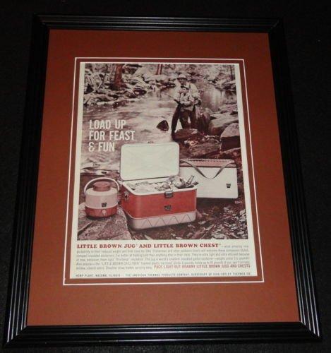 1961 Little Brown Jug & Chest 11x14 Framed ORIGINAL Vintage Advertisement - Framed Jug