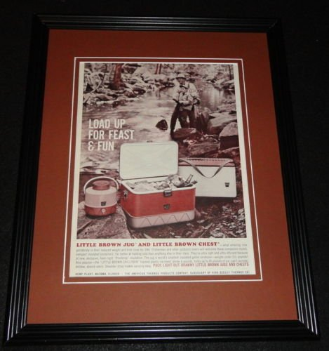 1961 Little Brown Jug & Chest 11x14 Framed ORIGINAL Vintage Advertisement
