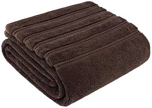 - American Soft Linen Premium, Luxury Hotel & Spa Quality, 35x70 Extra Large Jumbo Size Bath Towel, Bath Sheet Cotton for Maximum Softness and Absorbency, [Worth $34.95] Chocolate Brown