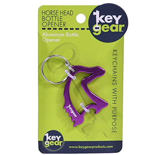 Key Gear Horse Head Bottle Opener, Purple ()