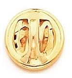 .45 Auto Brass Cuff Link and Tie Tack Set w/Swarovski Crystals- Clear (2nd Amendment)