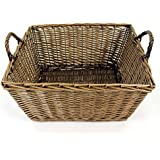 Large Wicker Log Basket or Carrier for Logs, Firewood, Storage (832) by Easipet