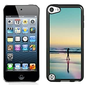New Personalized Custom Designed For iPod Touch 5th Phone Case For A Woman Silhouetted At The Beach Phone Case Cover