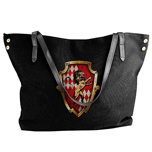 [Harry Potter Hogwarts Gryffindor Women's Canvas Handle Single Shoulder Bag/Handbag] (Hermione Granger Costume Casual)