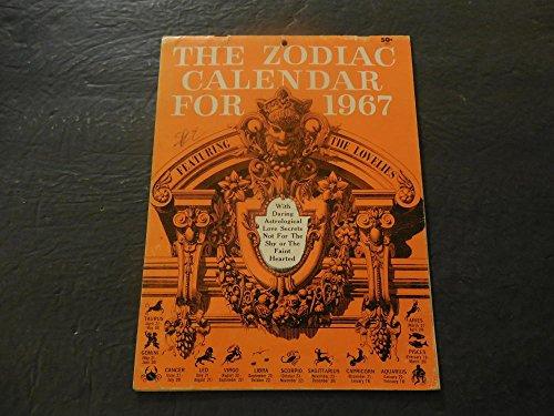 Zodiac Calendar For 1967 Featuring The - 1967 Calendar