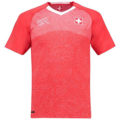 Sleeve Football Jersey Short (SODIAL World Cup Men Sportswear Soccer Switzerland Shirt Breathable Short Sleeve Shirt Jerseys Uniforms Couple Football Kit Shirt Tracksuit(Men,L))