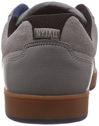 DC Mens Nyjah Skate Shoe Grey/Gum 1MJXclA8