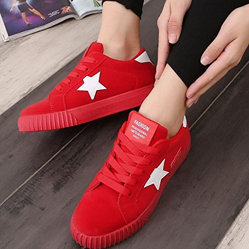 NGRDX De Casual Calzado Encaje Casual Señoras Red Zapatos Femenino Calzado amp;G AxFrw8A