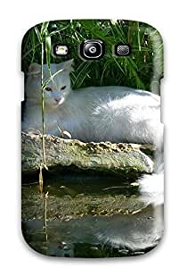 Matt C Brown Case Cover Protector Specially Made For Galaxy S3 Regal White Cat by icecream design