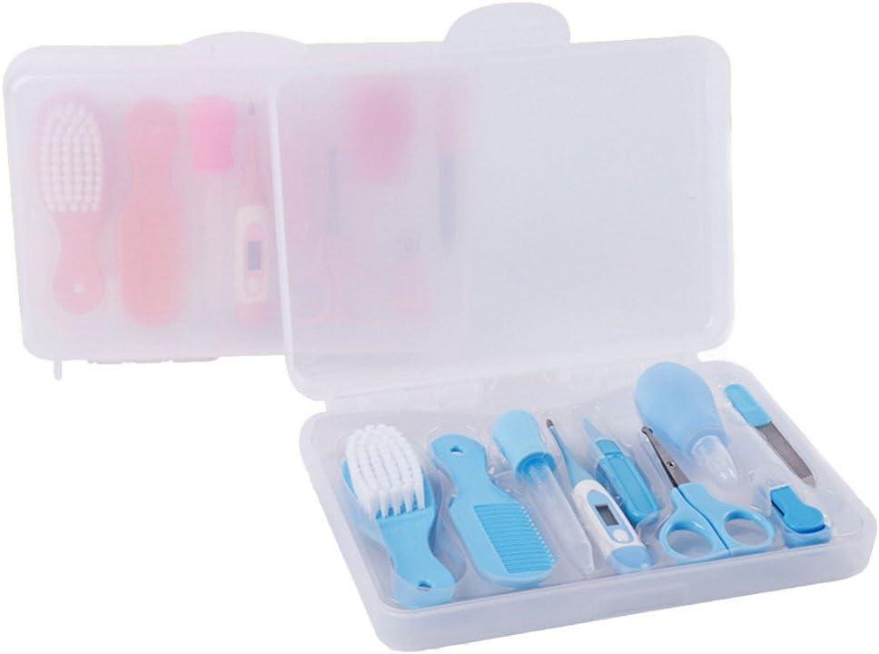 17 3cm FYGOOD 9pcs Set de Trousse de Toilette B/éb/é bleu avec bo/îte Transparent 23