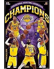 Close Up 2020 NBA Finals Champions Poster, Los Angeles Lakers (56,8 cm x 86,4 cm)
