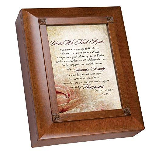 Cottage Garden Until We Meet Again Woodgrain Remembrance Keepsake Box