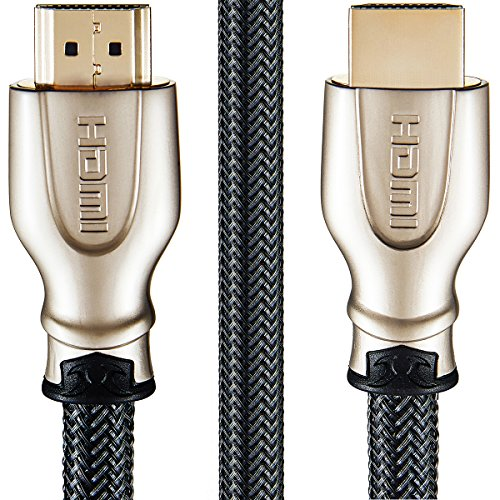 Cable Gold 1.3 Hdmi (JPART 4K High Speed HDMI Cable 2.0 Ethernet Audio Return Channel Ultra HD 2160p HD 1080p 3D HDR Champagne/Gold Plated 1 Meter/3.3 Feet)