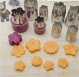 Prettysell 8pcs/Set Flower Star Shape Vegetable Fruit Cutter Mold...