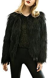 Amazon.com: Black - Fur &amp Faux Fur / Coats Jackets &amp Vests