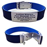SUMMER SALE Dual Layer Fitness ID Bracelet - Wrist ID - Identification Bracelet, ID Wristband, and Sports ID for Kids and Adults - Runners - Walking - Cycling - Alert - Safety (Black and Blue)