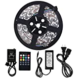 Minger Waterproof Music LED Strip Light 16.4ft 300leds RGB SMD 5050 Color ...