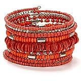 SPUNKYsoul New! Coil Bracelets for Women Collection (Orange)