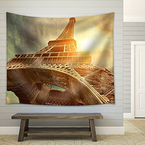 The Eiffel Tower is One of The Most Recognizable Landmarks in The World Under Sun Light Fabric Wall