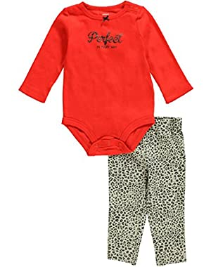 Carters 2 Pc Cute & Comfy Set Red Leopard Perfect